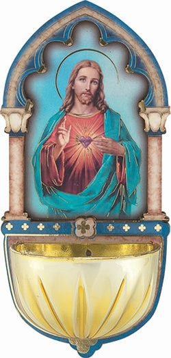 Sacred Heart of Jesus Holy Water Font-TA1928-101
