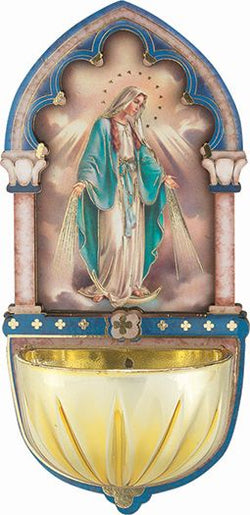 Our Lady of Grace Holy Water Font-TA1928-200