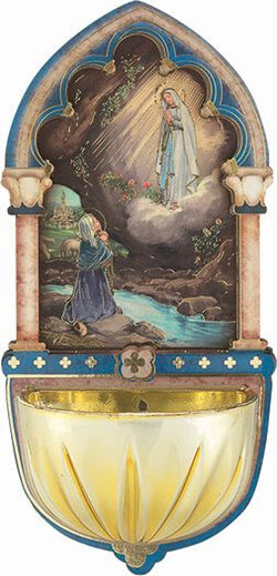 Our Lady of Lourdes Holy Water Font-TA1928-210
