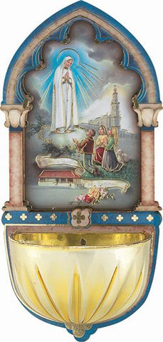 Our Lady of Fatima Holy Water Font-TA1928-225