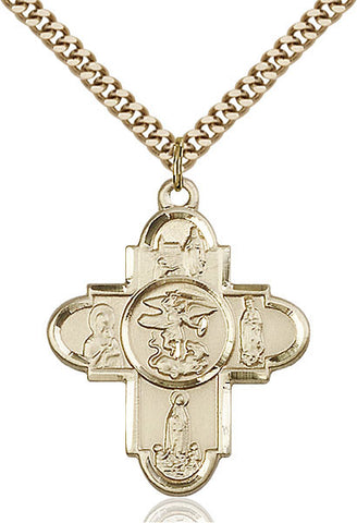 Our Lady 5-Way Medal - FN5711GF24G
