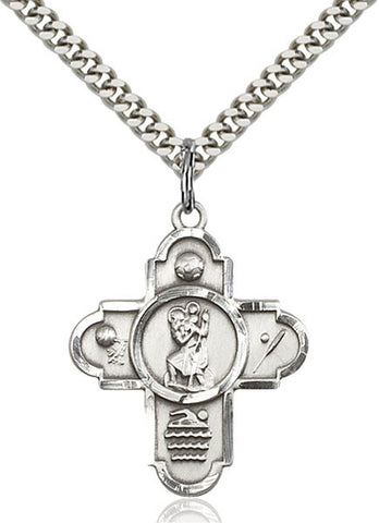5-Way St Christopher/Sports Pendan - FN5712SF24S