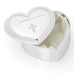 Communion Heart Keepsake Box - LI19780