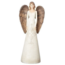 Damask Medium Ivory Angel - LI19996