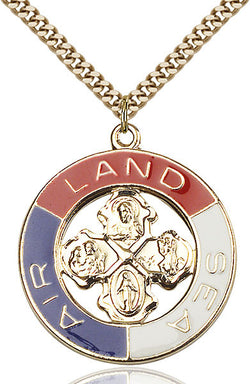 SS/GP Land, Sea, Air Medal - FN4142SSG24G