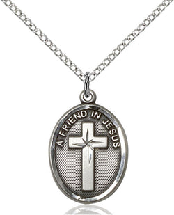 A Friend In Jesus Medal - FN0881SS18SS