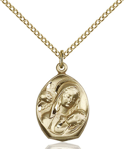 Madonna & Child Medal - FN3000KT