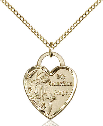 Guardian Angel Heart Medal - FN3202GF24G