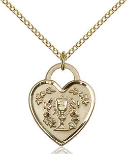 Communion Heart Medal - FN3204GF24G