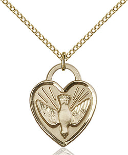 Confirmation Heart Medal - FN3205GF24G