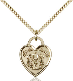 Communion Heart Medal - FN3404GF24G