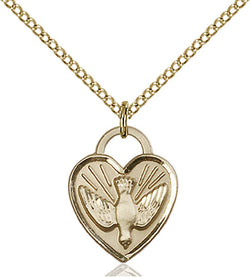 Confirmation Heart Medal - FN3405GF24G