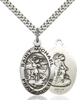St. Michael the Archangel Medal - FN4027SS24S