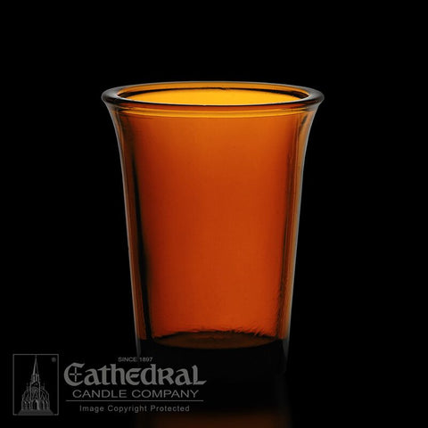 Amber 24 Hour Votive Glasses - YS204-AM