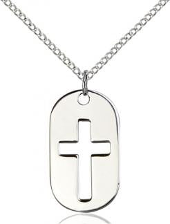 Cross Dog Tag Medal - FN0110DTSS18SS