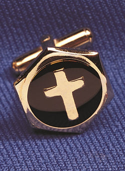 Cuff Links Inlaid Cross - OFCUFFLINK#3