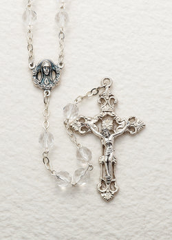 15-Decade Rosary Clear Beads - LA26140