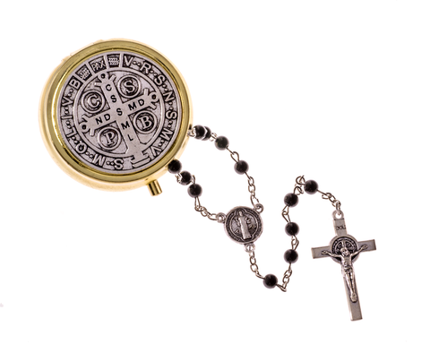 St. Benedict Rosary with Case - LA26851BE