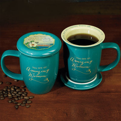 "Amazing Woman"" Mug and Coaster Set -EF56876T"