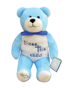 Blue Bless This Child Holy Bear - TXBCBLUE