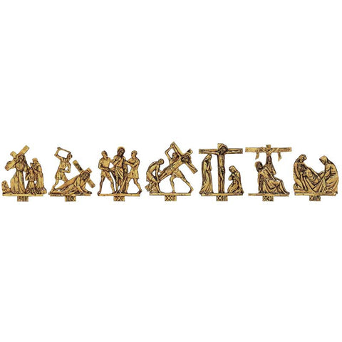 24k gold Stations of the Cross - MIK379G