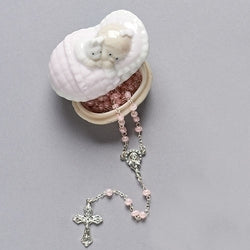 Girl Keepsake Box with Rosary - LI31009