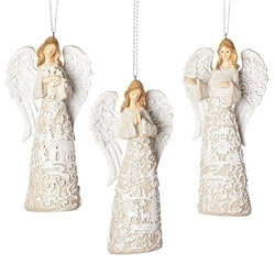 Papercut Look Angel Ornament - LI33906