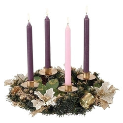 Advent Wreath - Ivory Poinsettia - LI38939