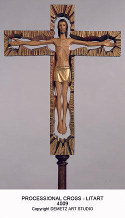 Processional Cross - Lit art - HD4009