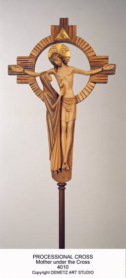 Processional Cross - Madonna Under The Cross - HD4010