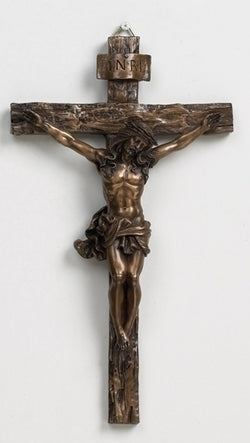 "9.5"" Bronze Wall Crucifix - LI40110"