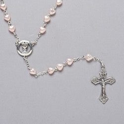 Communion Heart Pearl Rosary - LI40127