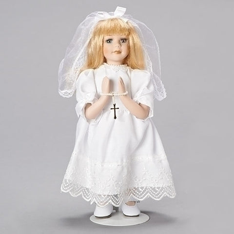 "Blonde Communion Doll 12"" - LI40330"
