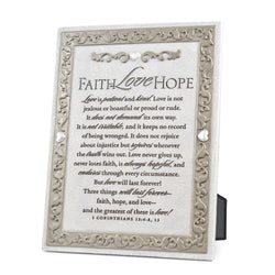 Faith, Hope, Love Plaque - NB40888