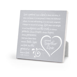 Joined Together in Love - Plaque - NB40887