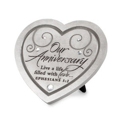 Our Anniversary Collection - Heart Plaque - NB40888