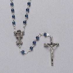 Blue Communion Rosary - LI40931
