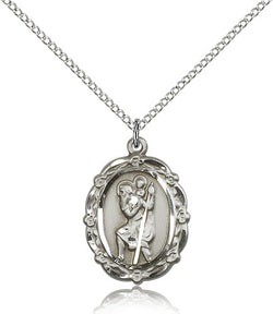 St. Christopher Medal - FN4146CSS18S