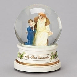 Boy with Jesus Musical Glitterdome - LI41508