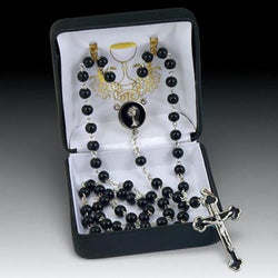 Black First Communion Rosary - HX41821