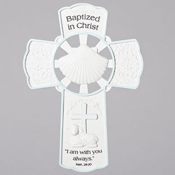 Boy Baptism Wall Cross - LI42698