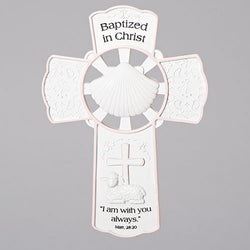 Girl Baptism Wall Cross  - LI42699