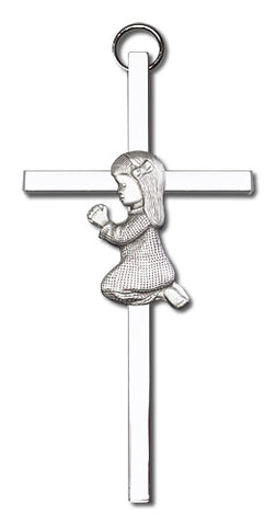 Praying Girl Silver Cross - FN4400SS