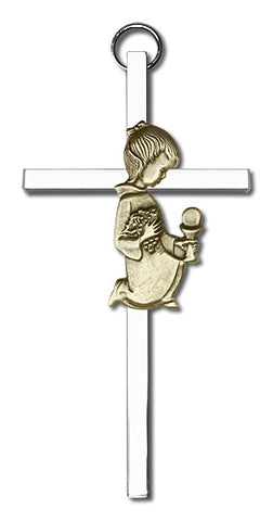 Personalized Communion Girl Cross Silver - FN4420GS