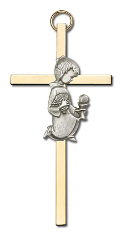 Personalized Communion Girl Cross Gold - FN4420SG