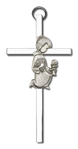 Personalized Communion Girl Cross Silver - FN4420SS