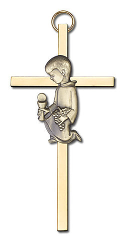 Personalized Communion Boy Cross Gold - FN4430GG