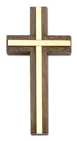 Wall Cross - Gold plate, Engraveable - FN4455G