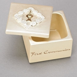 "1.5""H COMMUNION ROSARY BOX - LI49370"