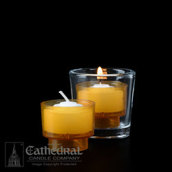 4-Hour Amber EZ Votive Lights - GG714-AM